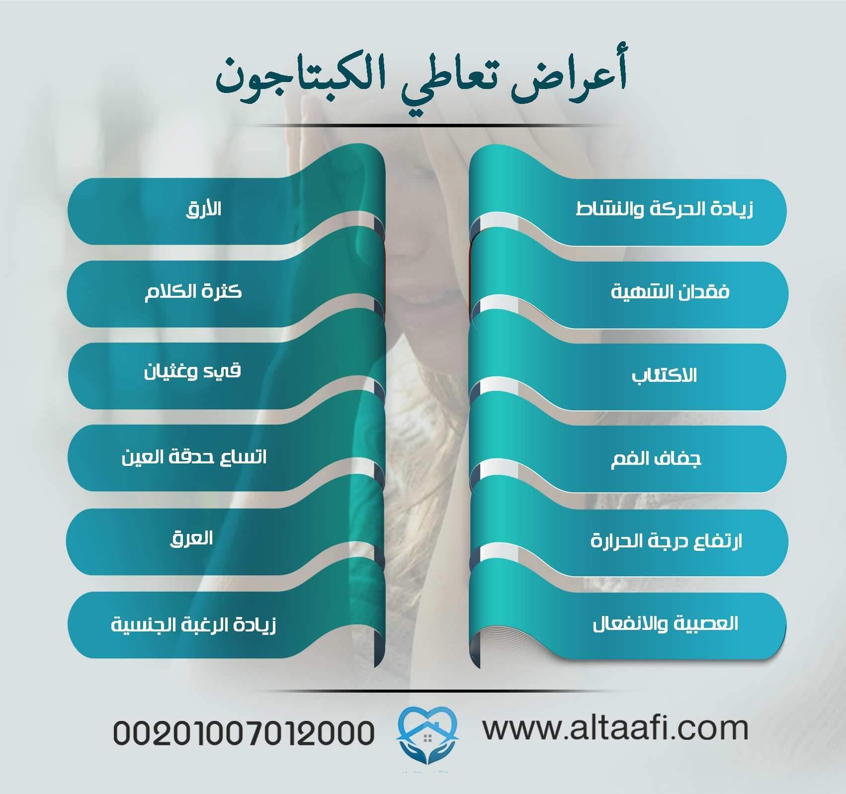 أعراض تعاطي الكبتاجون