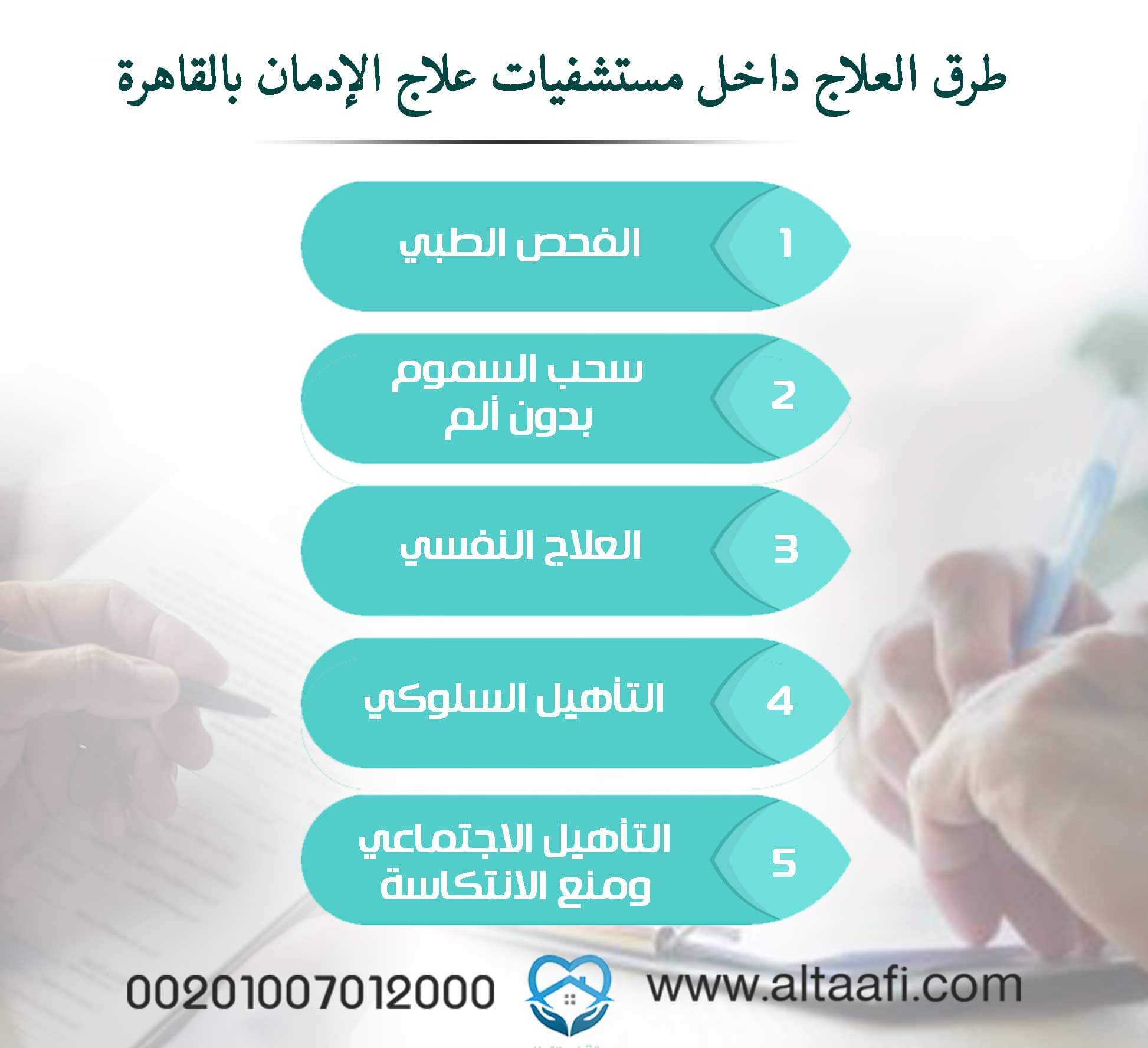 طرق العلاج داخل مستشفيات علاج الإدمان بالقاهرة
