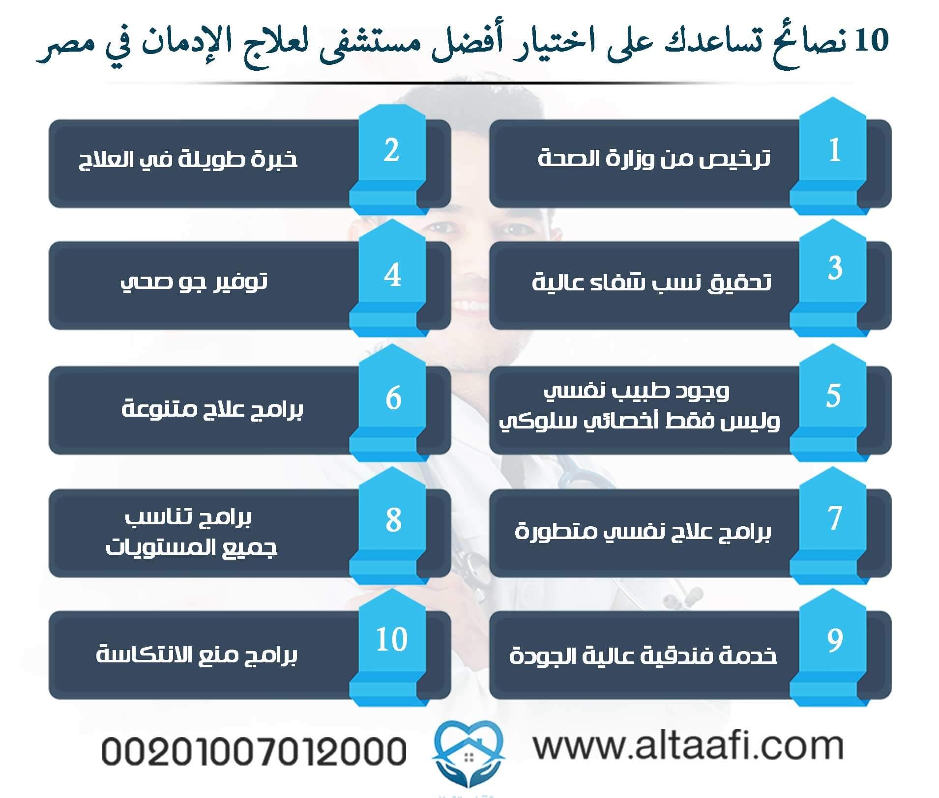 أفضل مستشفى لعلاج الإدمان في مصر