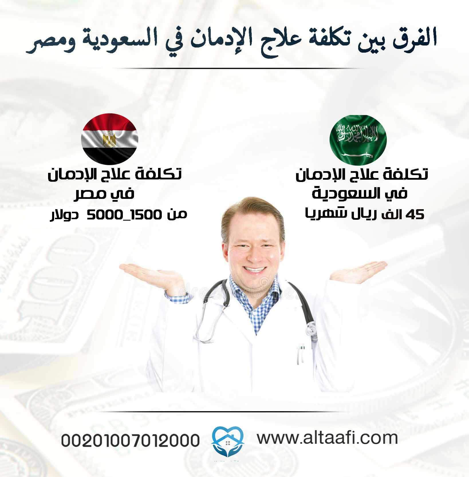 الفرق بين تكلفة علاج الإدمان في السعودية ومصر