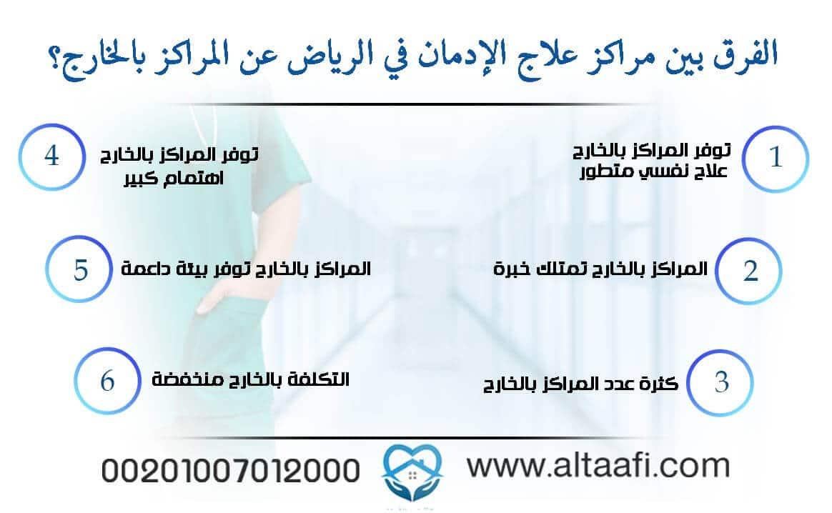 الفرق بين مراكز علاج الإدمان في الرياض عن المراكز بالخارج؟