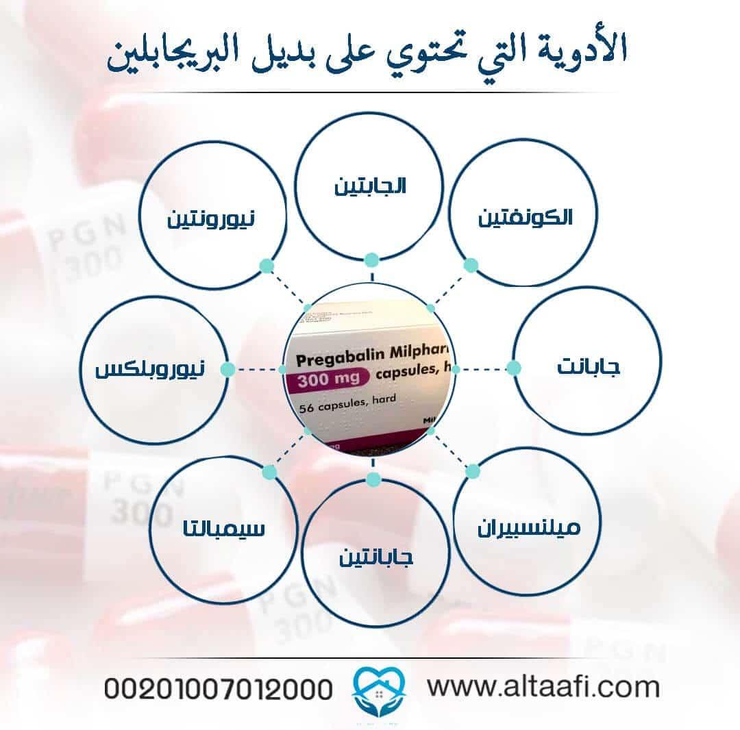 الأدوية التي تحتوي على بديل بريجابالين