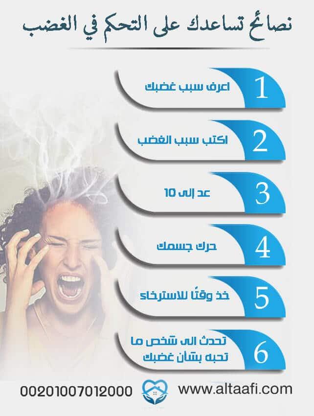 نصائح تساعدك على التحكم في الغضب: