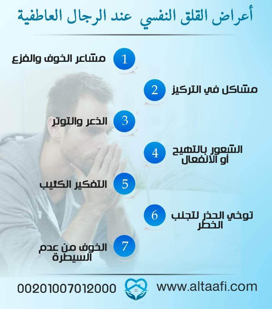 أعراض القلق النفسي عند الرجال العاطفية