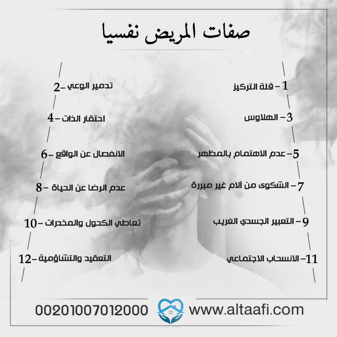 صفات المريض نفسيا