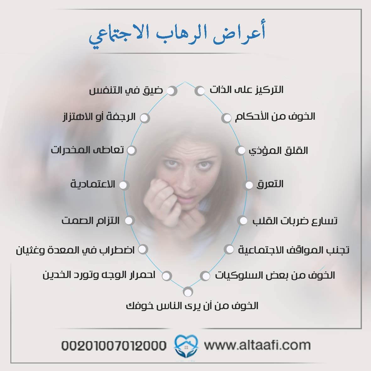 أعراض الرهاب الاجتماعي