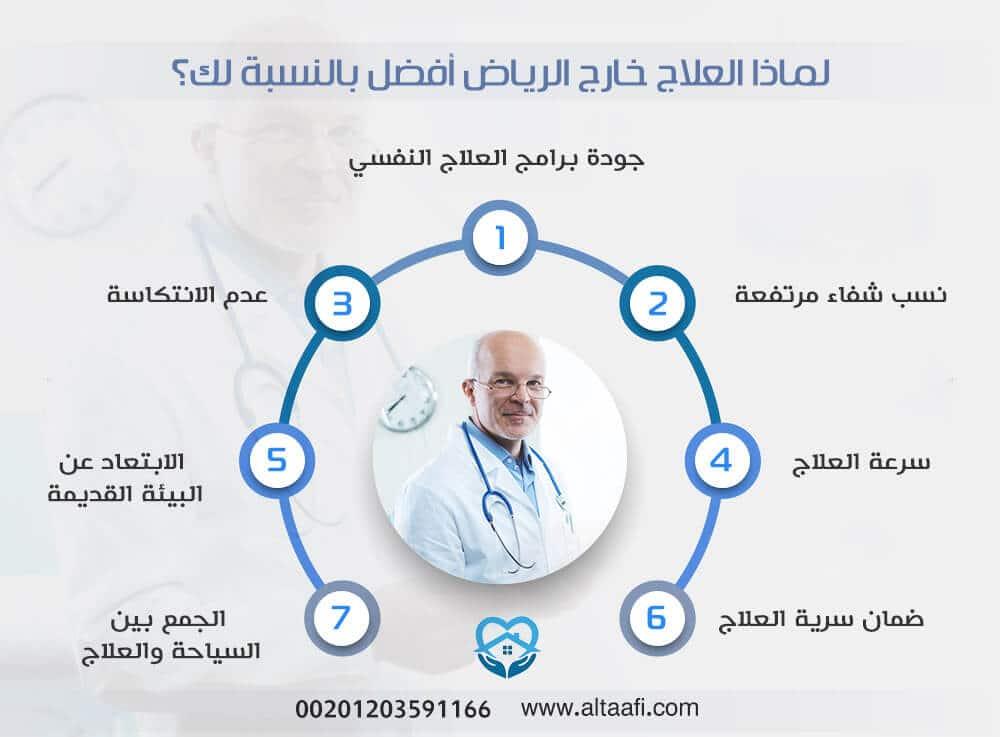 لماذا العلاج خارج الرياض أفضل بالنسبة لك؟