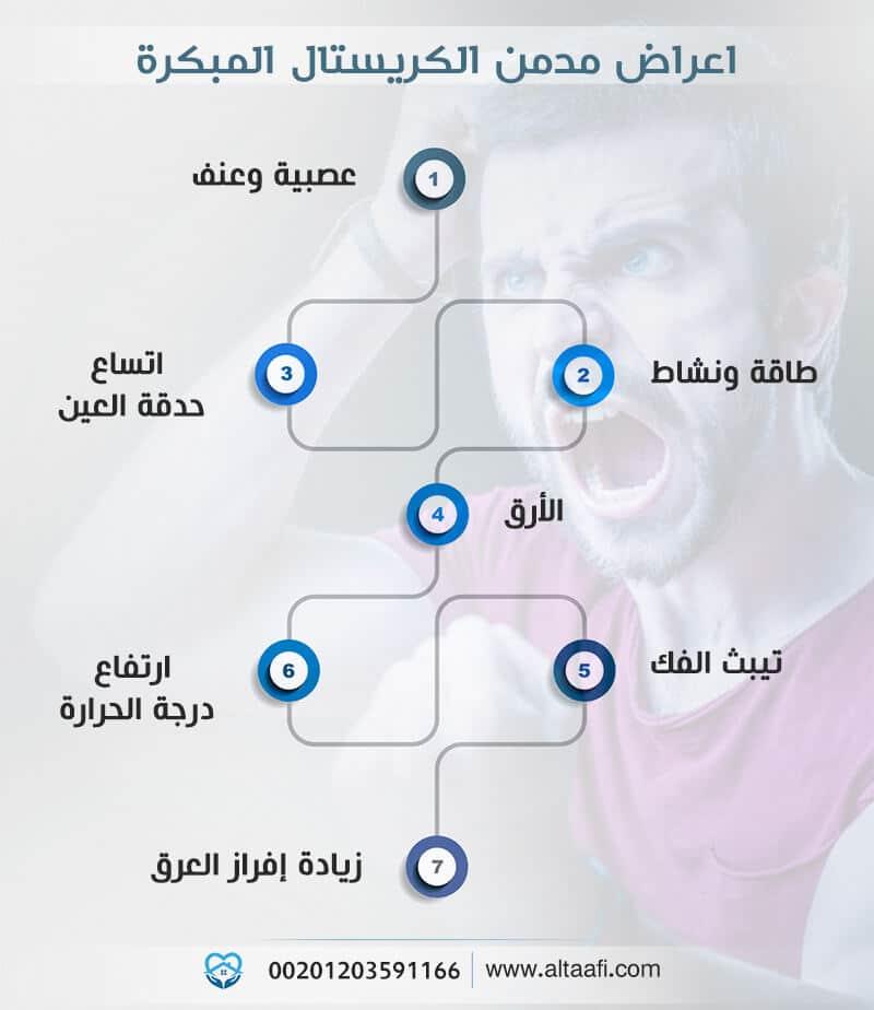 اعراض مدمن الكريستال المبكرة