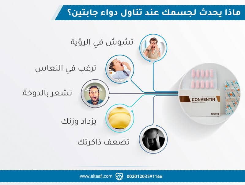 ماذا يحدث لجسمك عند تناول دواء جابتين؟